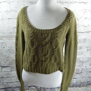 Guinevere Anthropologie Crop Merino Alpaca Sweater